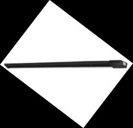Costa di sicurezza meccanica N.C. con profilo in gomma nera da 1,80 mt