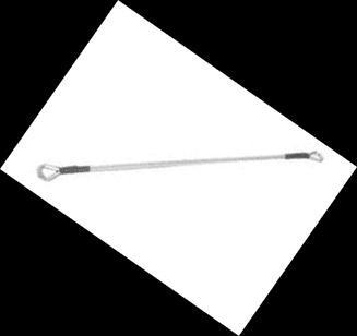 COL700 - Cavo anticaduta in inox per cancelli 700 mm