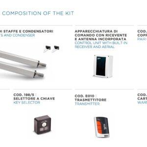 KIT EGO 500 – Attuatore Elettromeccanico 24V
