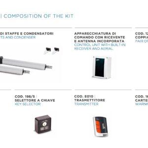 KIT LINEAR 11 400– Attuatore Elettromeccanico Lineare 230V