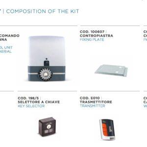 KIT CARRERA 1000– Motoriduttore 230V