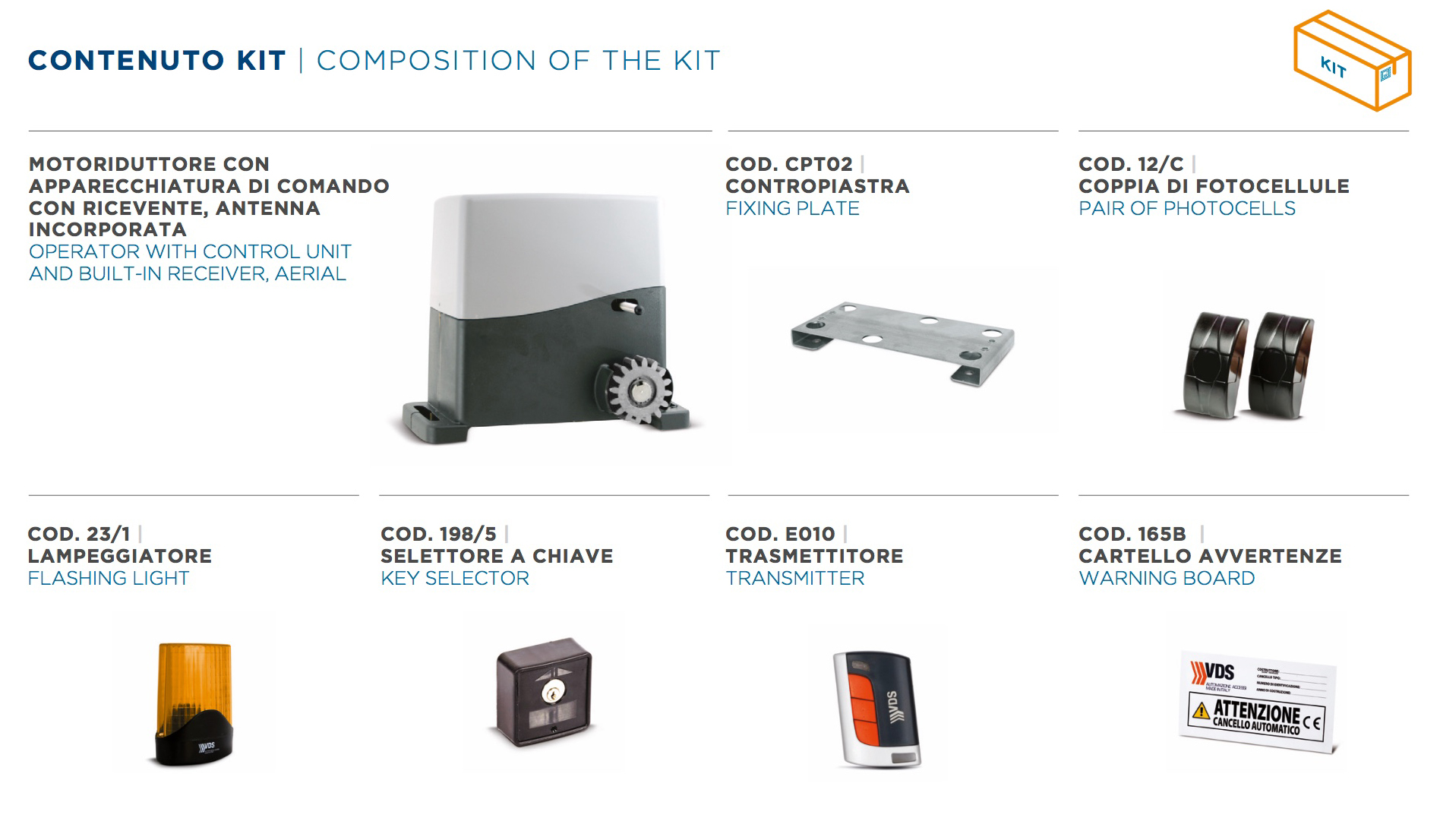 KIT AG FUTURE 1600– Motoriduttore 230V