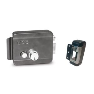 Elettroserratura Centrale Completa Sx/Dx con pulsante 12V