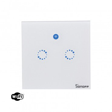 Interruttore Doppio Touch Wi-Fi Remoto SONOFF T1 EU 2C