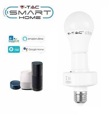 vtac 8421 v tac smart home vt 5007 portalampada wifi per lampadine e27 gestione smartphone sku 8421 d75