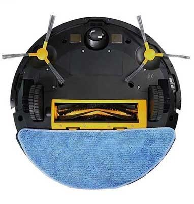 vtac 8649 v tac vt 5555 aspirapolvere robot lavapavimenti pulitura con acqua e base di ricarica corpo bianco gestione remota da smartphone google alexa sku 8649 f7b