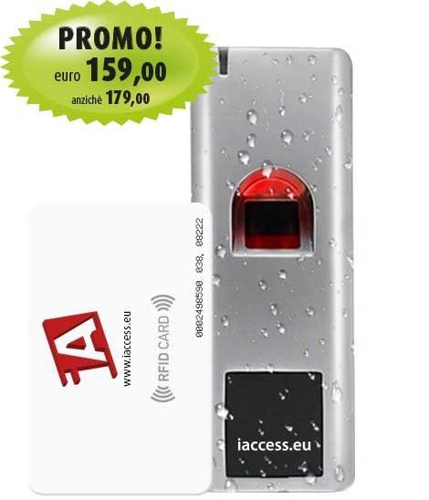 controllo accessi biometrico antivandalo iaccess m7 plus