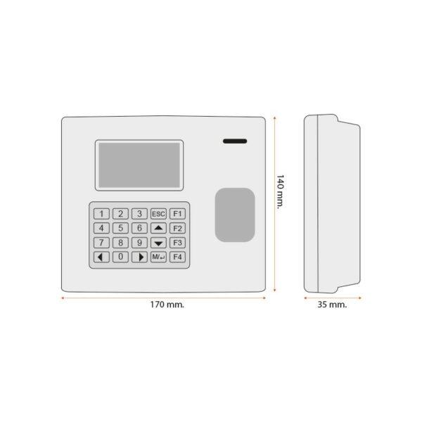 Marca tempo rileva presenze iAccess i980-W 3