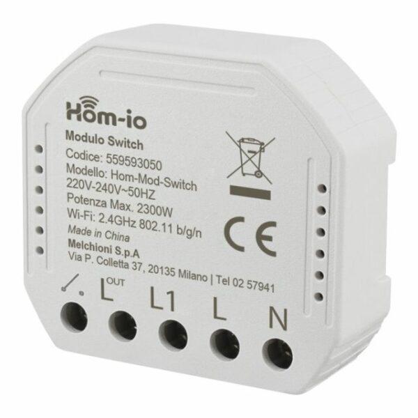 Modulo Switch da incasso 10A 1 Canale WiFi Hom-io HOM-iO 1